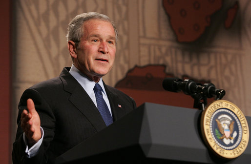 George W. Bush speaking