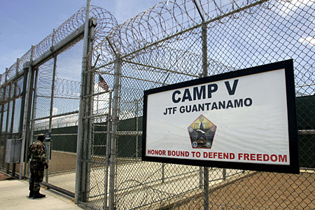The military prison camp at Guantanamo Bay Naval Base, in Guantanamo Bay, Cuba.