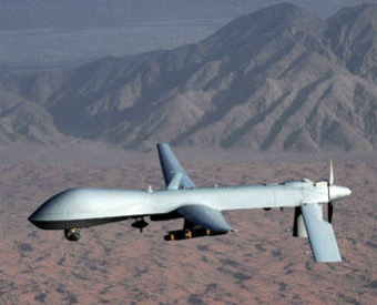 An unmanned Predator drone.
