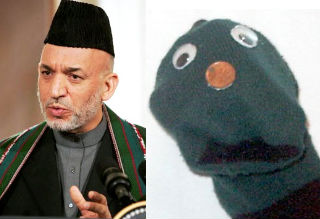 Karzai and puppet