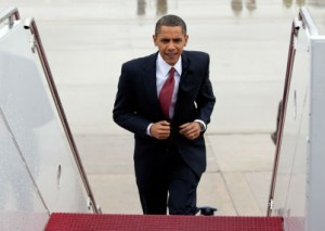 Obama Boards Air Force One