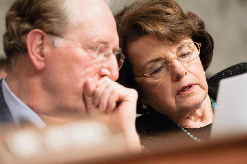 Senators Dianne Feinstein of California and Jay Rockefeller of West Virginia. Both are millionaires.