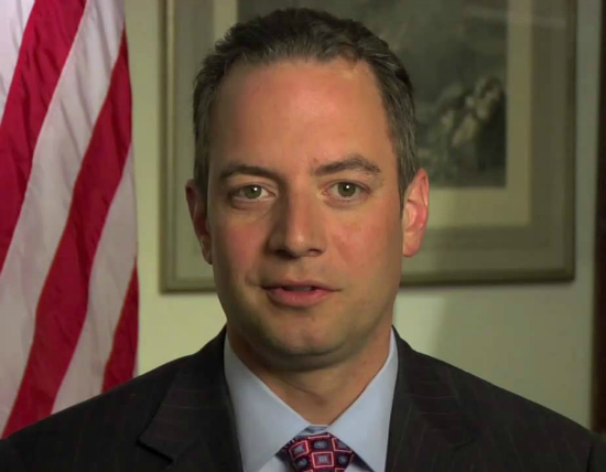 Republican Party Chairman Reince Preibus gave a video address Wednesday afternoon.