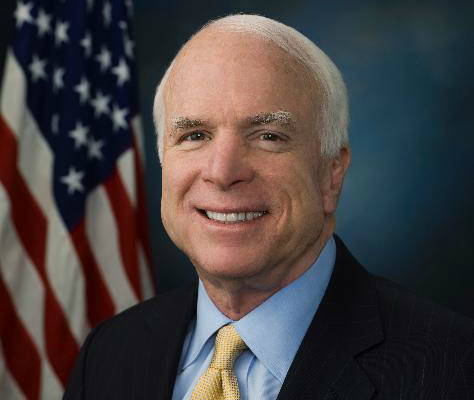 Arizona Senator John McCain.