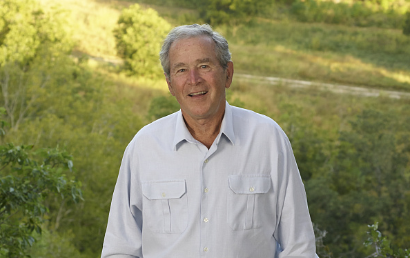 Former President George W. Bush at his Crawford, TX ranch.