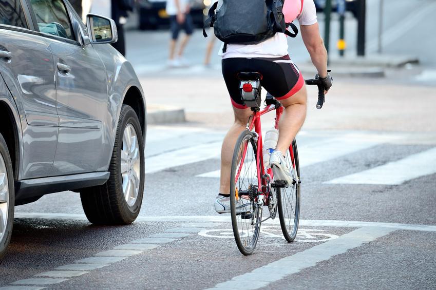 A bicyclist.