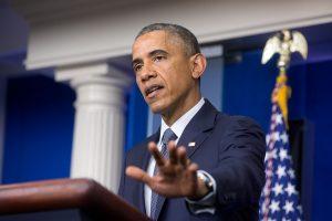 Obama speaking in press conference