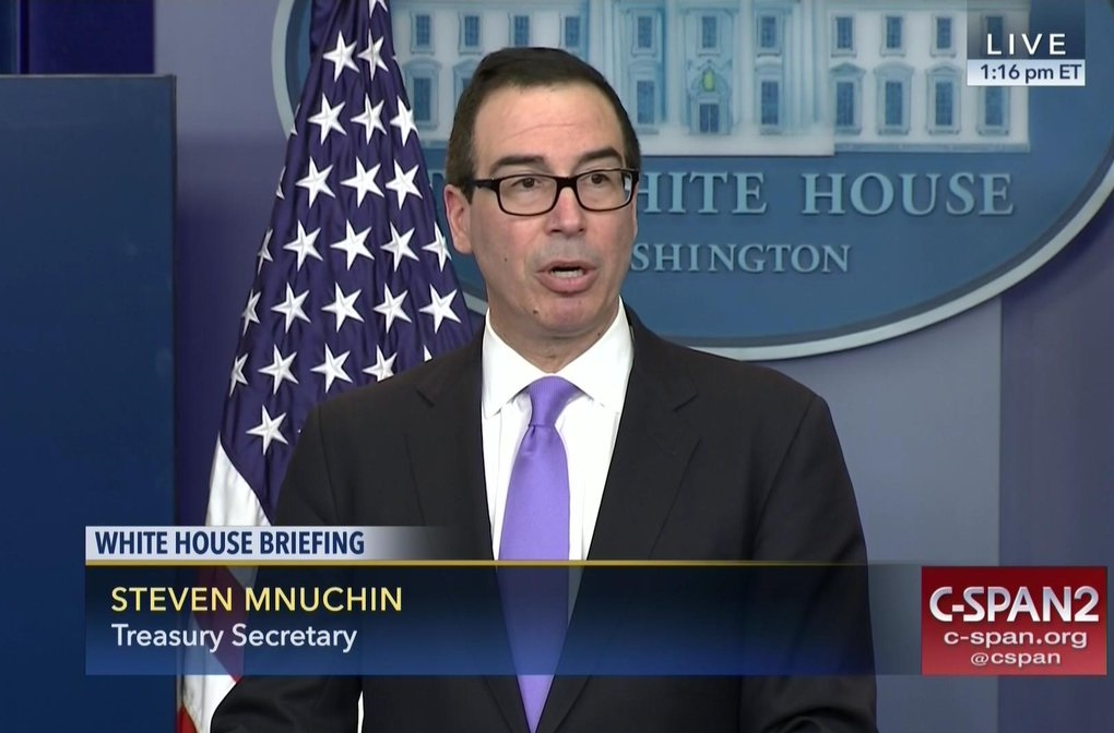 Mnuchin speaks to reporters
